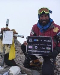 Richard Parks summits the highest mountain in South America