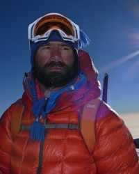Richard Parks attempts the dangerous final leg - Mount Elbrus