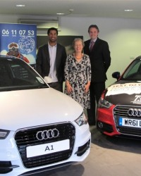 Richard presents Audi A1 to competition winner